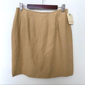 NWT Honey Silk Linen Blend Simple Mini Skirt 2